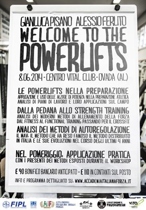 "Seminario ""Welcome to the Powerlifts"""